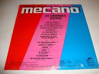 Mecano Grandes Exitos Mexican Vinyl LP 1987 | eBay