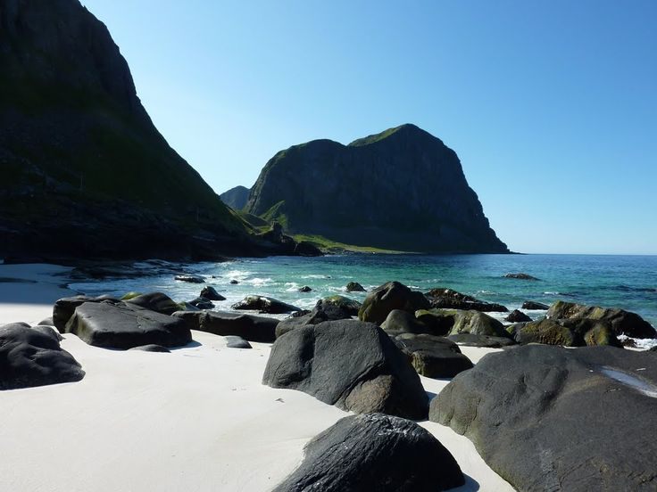 Beach on the north side of Vaeroy, norway