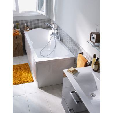 Baignoire droite acryl NIRVANA - Salle de bains