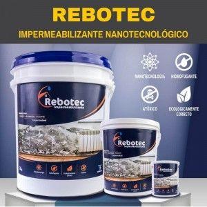 REBOTEC Impermeabilizante - Acabe com a umidade em sua obra! É um produto em pó que impede a umidade, a infiltração e o mofo de atingir a sua obra.Rende muito mais que os impermeabilizantes comuns, pois ele é um hidrofugante nanotecnológico! Com ele você faz a impermeabilização da laje, da parede, do contrapiso, de tudo! REBOTEC é produzido no Brasil.