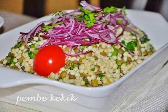 mercimekli kuskus salatası