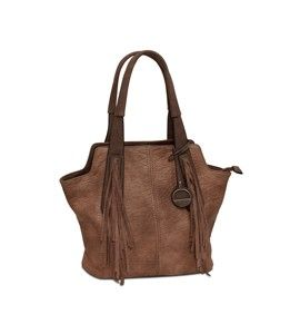 Joan Fringed Tote by Marc Chantal Brown
