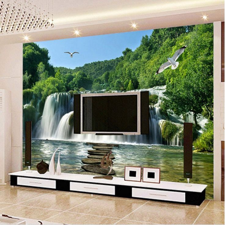 Beibehang Custom Landscape 3D Waterfall Photo Wallpaper Living Room Sofa TV  Background Wallpaper For Walls 3 Part 90