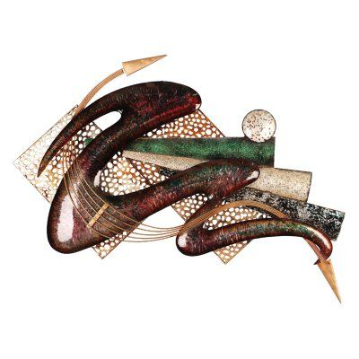 Home Source Industries Multicolored Modern Wall Sculpture - 400-26727 MOP