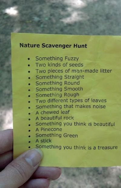 Summer Camping Ideas DANIELLE NATTY!!! Here are some scavenger hunt ideas! This would be a fun time with the girls.