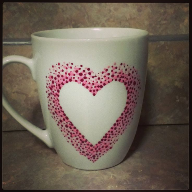 pink heart coffee mug by sarahmarie28 on Etsy, $12.00