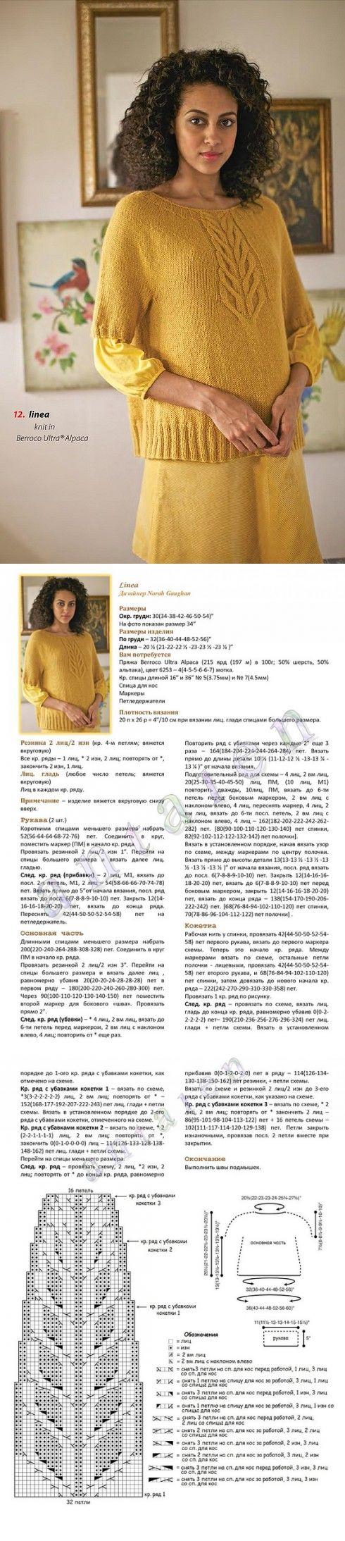 Желтый свитер - LINEA