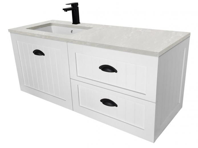 The Kado Era 1200 Wall Hung Vanity Unit With Its Traditional Shaker Style Cabinetry Is