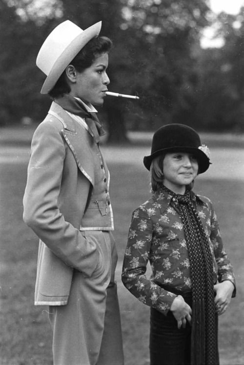 Bianca Jagger and Tatum O'neal