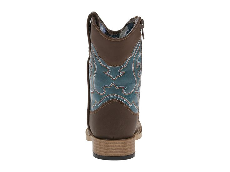M&F Western Open Range (Toddler) Cowboy Boots Brown/Turquoise