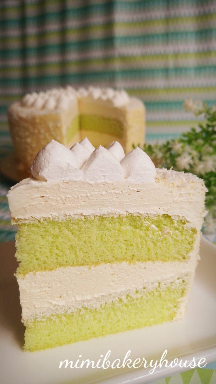 MiMi Bakery House: Gula Melaka Pandan Ogura Cake - This is my IDEAL cake!!! [27 Oct 2015]