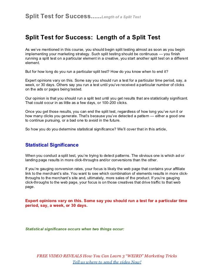 split-test-for-success-length-of-a-split-test by Pam Lindberg via Slideshare