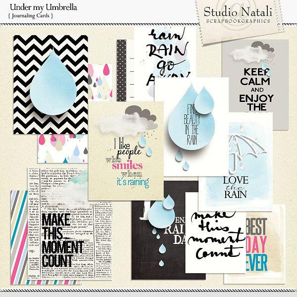 Scrapbookgraphics.com :: Collections :: Under my Umbrella Bundle
