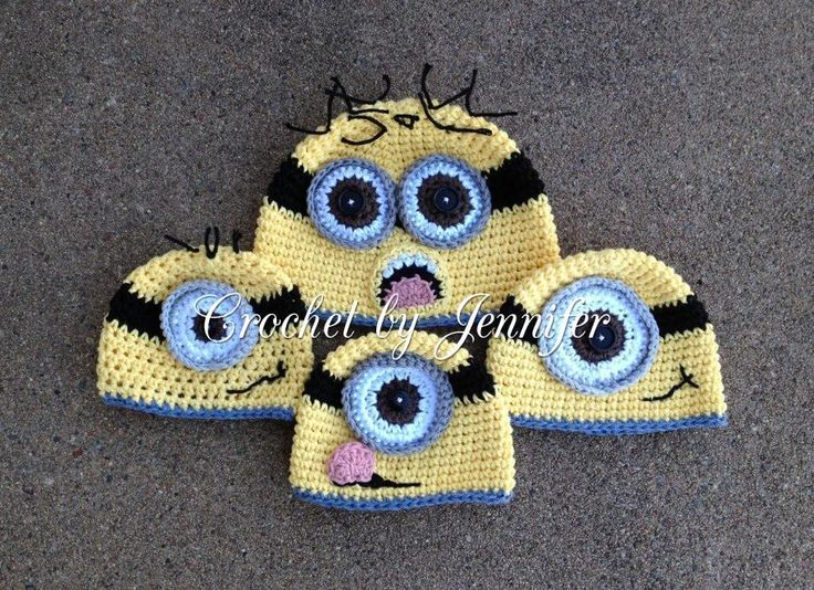 Minion Hat -- FREE Craftsy pattern; also on Ravelry at http://www.ravelry.com/patterns/library/minion-hat-4