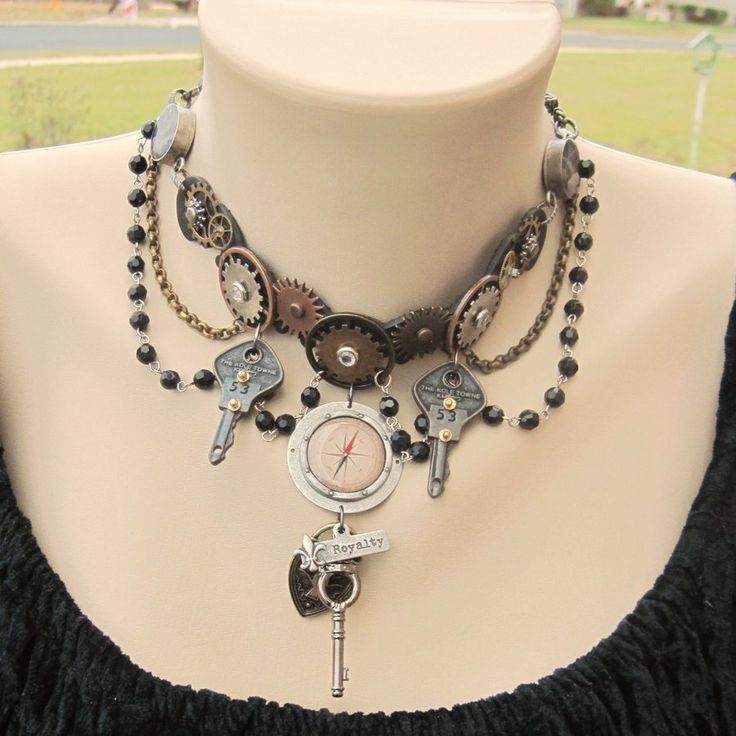 Steampunk lover gear and leather industrial choker by shambleramble.deviantart.com on @deviantART