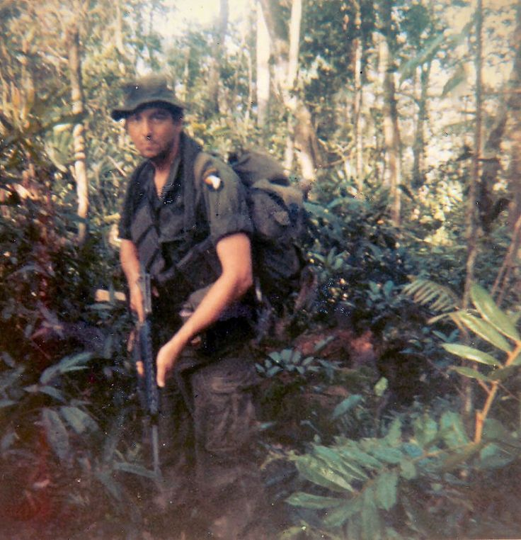 101st Airborne Sgt. James A. Tyner on patrol near Quang Tri, South Vietnam. This is one of the last pictures taken of him. He was killed in action April 15, 1970. - Vietnam War