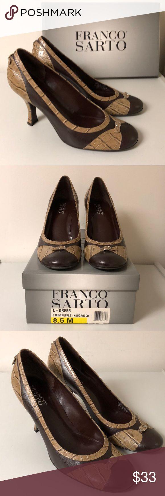Franco Sarto Women's Brown Heels Size 8.5 M Franco Sarto Women's Brown Heels Size 8.5 M 3 1/2 inch Heel Preowned,  in good condition Franco Sarto Shoes Heels