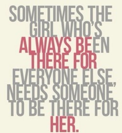 Being there for everyone but no one to be there for them