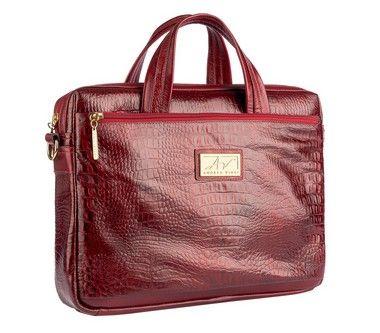 55d5e8400 Bolsa transversal feminina de couro vermelha - Enluaze   Bolsas e  acessórios de couro