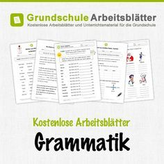 Kostenlose Arbeitsblätter und Unterrichtsmaterial für den Deutsch-Unterricht zum Thema Grammatik in der Grundschul