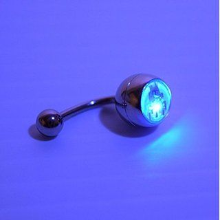 LED Light up Glow Belly Button Ring Navel (Multicolor)- Glow in the Dark Belly Ring