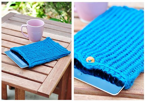 Knitting Loop Length Calculation : How to knit a cover for your ipad on round loom