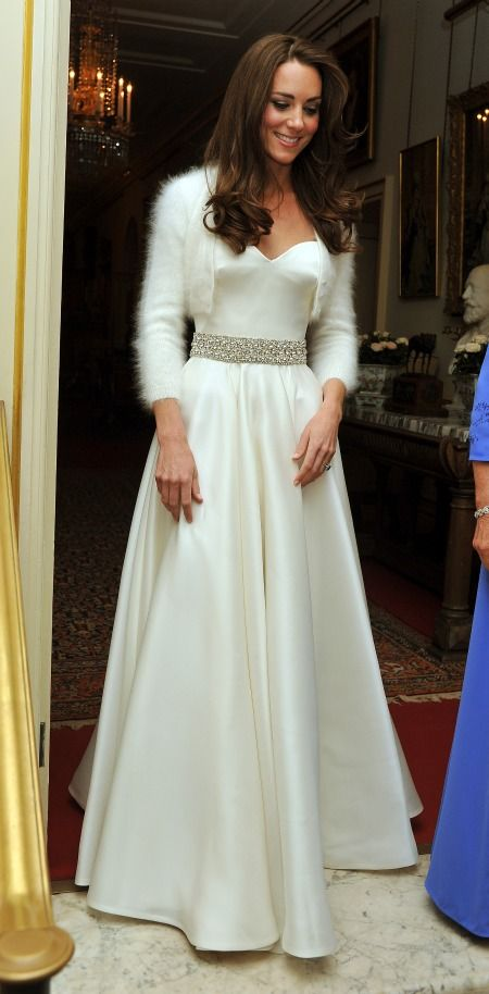 Kate Middleton's second wedding dress; Alexander McQueen.
