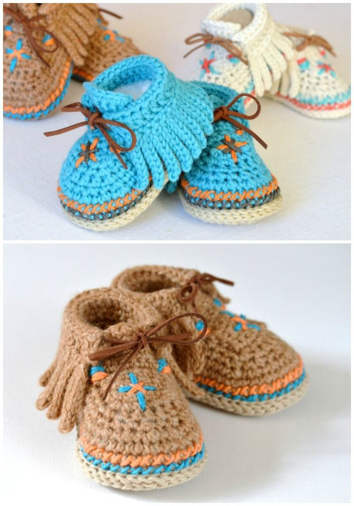 CROCHET PATTERN: Baby Moccasins Includes 3 sizes (affiliate)