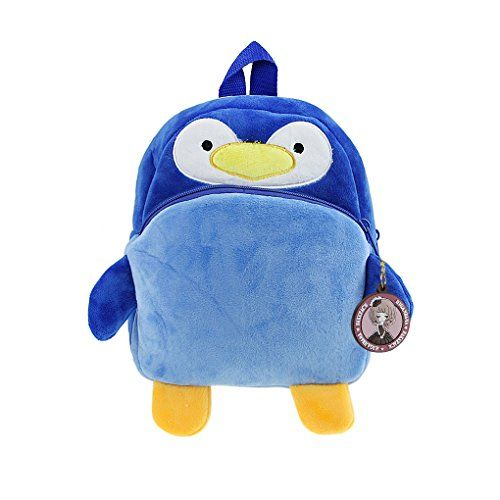 Kids Vivid Cartoon Snacks Zoo Toy Backpack Preschool Toddler Shoulder Bag Satchel Blue Penguin * Check out this great product.