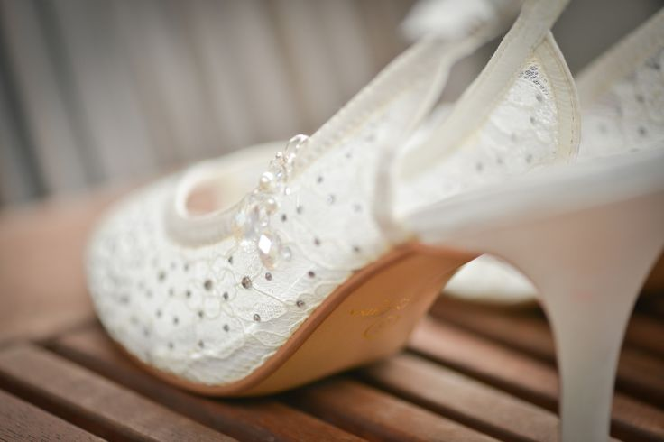 Intricate wedding shoes