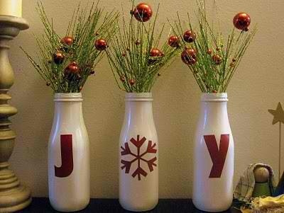 """perfect for christmas-wine bottles, different colors, & maybe """"happy holidays"""""""