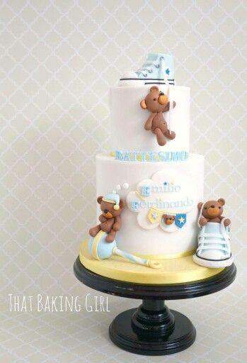 Teddy bear and baby toys cake