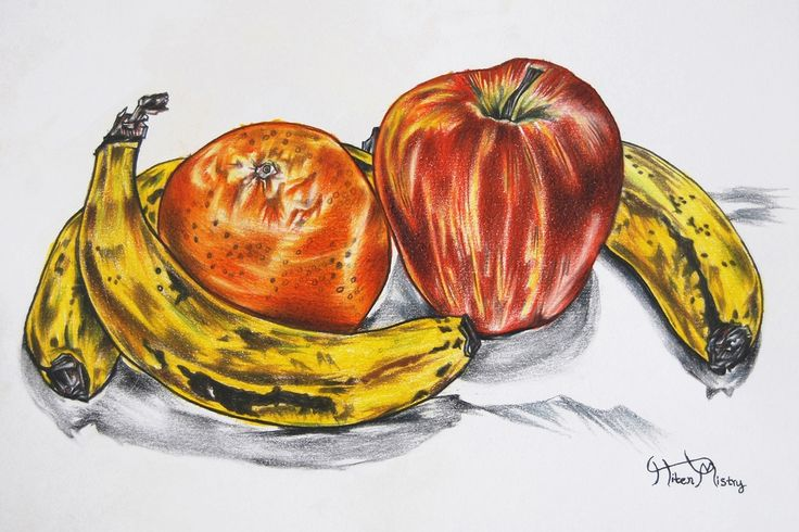 FineArtSeen - Daily Needs by Hiten Mistry. This original still life painting of fruit is full of colour and comes from the collection on FineArtSeen. Click to view more art at great prices from the Home Of Original Art. << Pin For Later >>