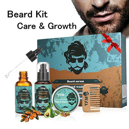 Kit Cuidado de Barba Y.F.M - Champú, Sérum, Bálsamo, Peine - Regalo Idear para hombres #Cuidado #Barba #Y.F.M #Champú, #Sérum, #Bálsamo, #Peine #Regalo #Idear #para #hombres
