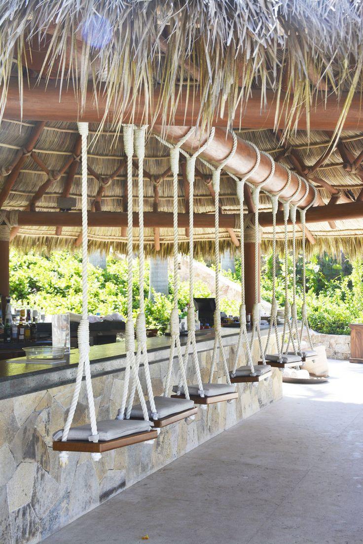 Swings, chair, beach club, punta mita, mexico, vacation