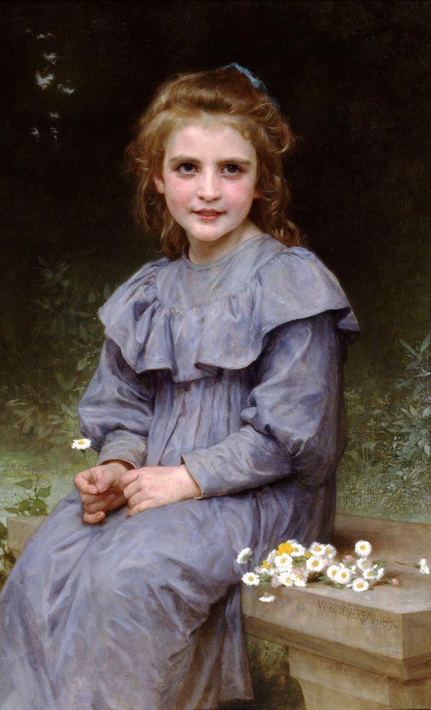 """Daisies"" by William Bouguereau, 1894."