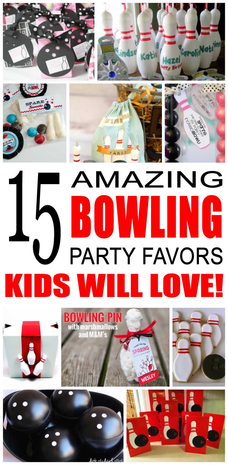 Fun kids bowling party favor ideas. Try these diy bowling party favors for boys and girls. Here are some easy goody bags and treats to say thank you to the friends of that special birthday child.
