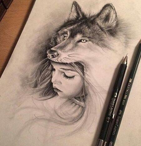 girl wolf headress