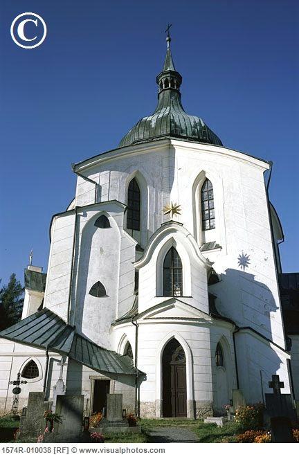 Church of St. John of Nepomuk, Zelena Horas, Czech Republic.