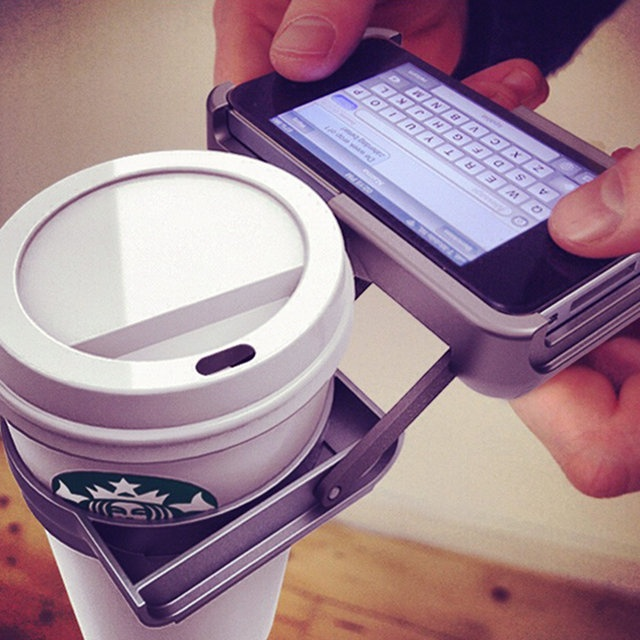 "lol ""iPhone cup holder #creative #gadgets"""