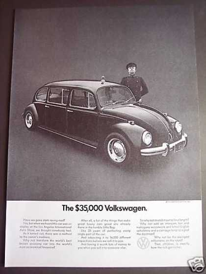 Volkswagen Beetle Bug Limousine Chauffer Photo (1971)