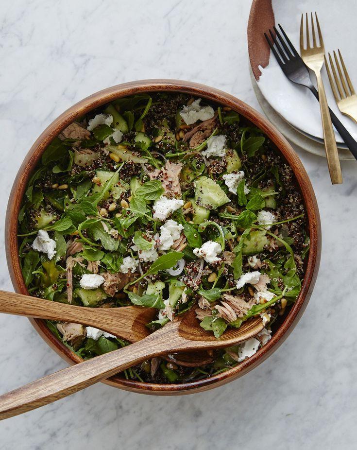 tuna cucumber quinoa salad