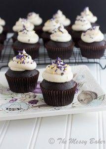 Dark Chocolate Bailey's Irish Cream Cupcakes