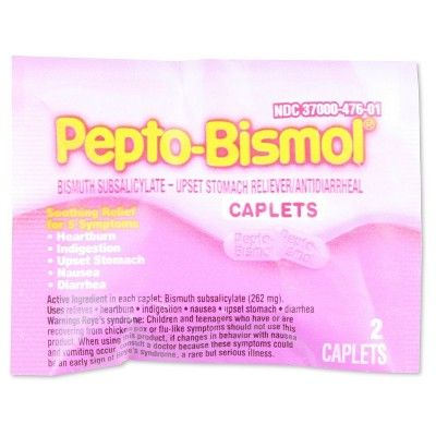 Pepto-Bismol Tablets, Two-pk, 25 pks/Box