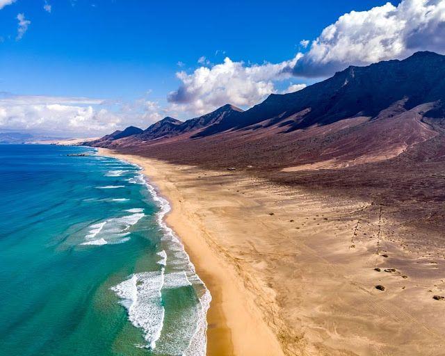 Geografía Canaria: Playa de Cofete - Fuerteventura #geografiacanaria #travel | Lugares hermosos, Playa, Beach life