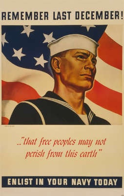 WWII: December, Propaganda Posters, Picture-Black Posters, War Posters, Pearls Harbor, Recruitment Posters, Navy Posters, Wwii Posters, War Ii