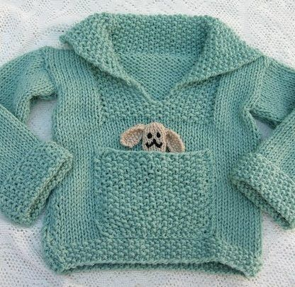 Free Knitting Pattern for Easy Pudding Pie Baby Sweater