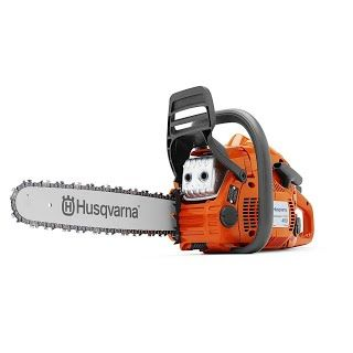 """Features & Benefits"" Husqvarna 450E 18"" 50.2cc 967651101 Gas-Powered Chain Saw"