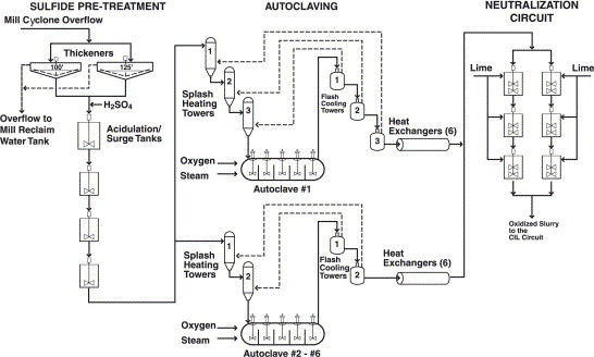 Barrick Goldstrike autoclaving-pretreatment circuit
