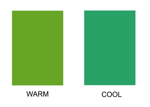 Afbeeldingsresultaat voor warm and cool green
